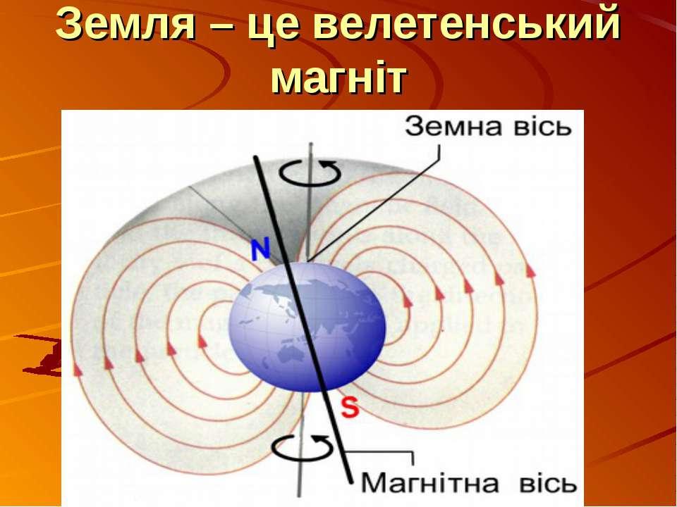 Земля – це велетенський магніт