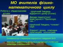 МО вчителів фізико-математичного циклу Щорічний Тиждень відкритого уроку (5 к...