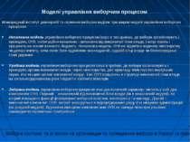 Моделі управління виборчим процесом Міжнародний інститут демократії та сприян...