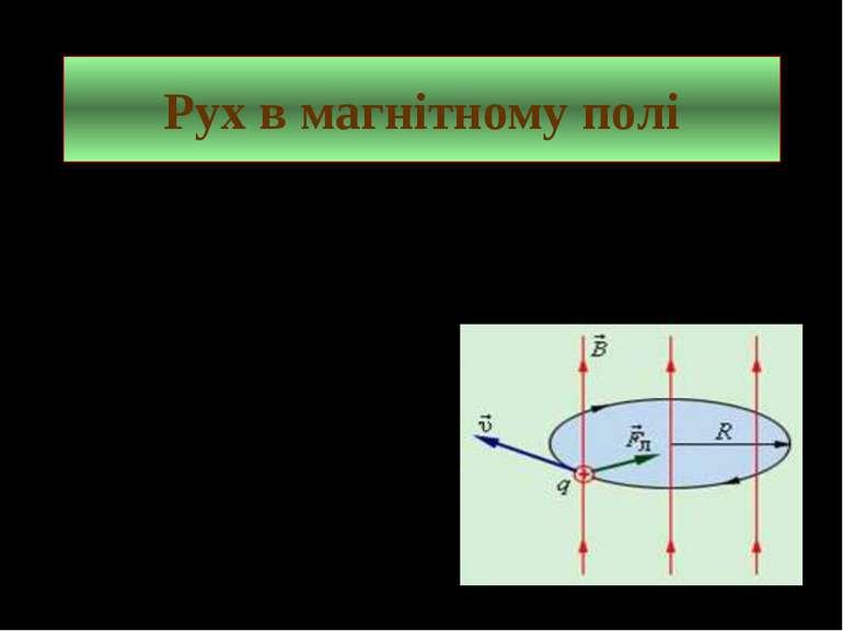 Рух в магнітному полі Під дією сили Лоренца заряджена частинка в магнітному п...