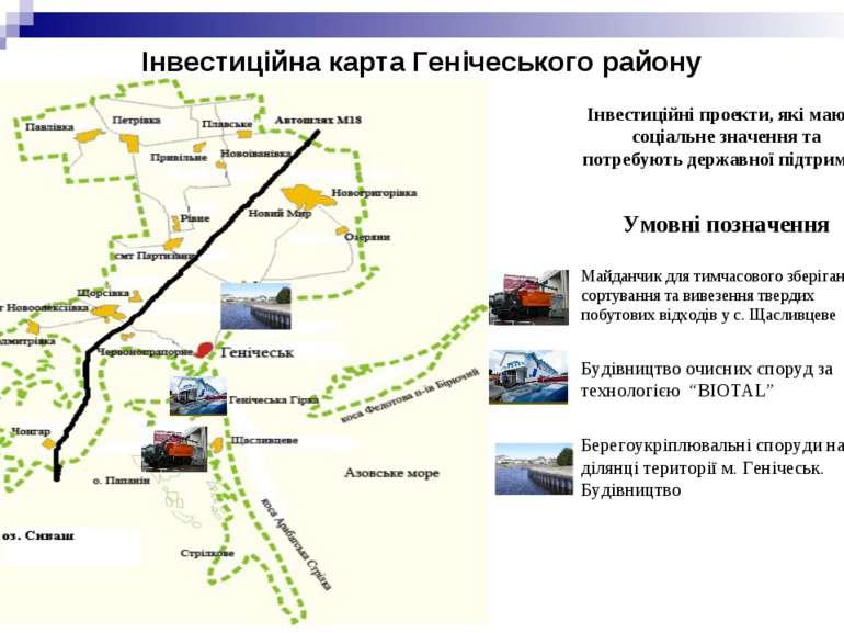 Інвестиційна карта Генічеського району Інвестиційні проекти, які мають соціал...