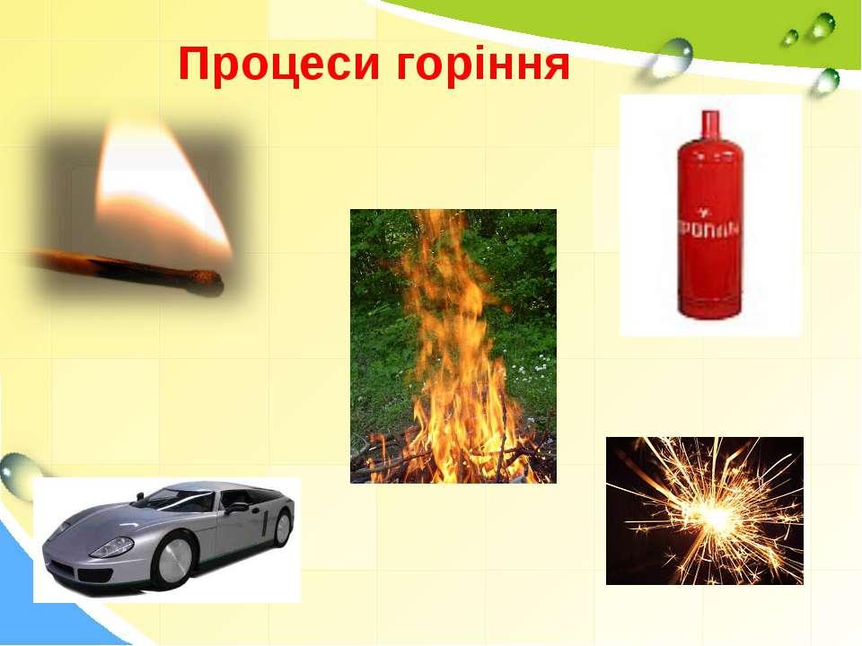 Процеси горіння