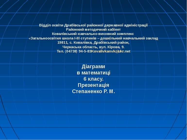 Відділ освіти Драбівської районної державної адміністрації Районний методични...