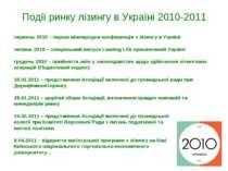 Події ринку лізингу в Україні 2010-2011 червень 2010 – перша міжнародна конфе...