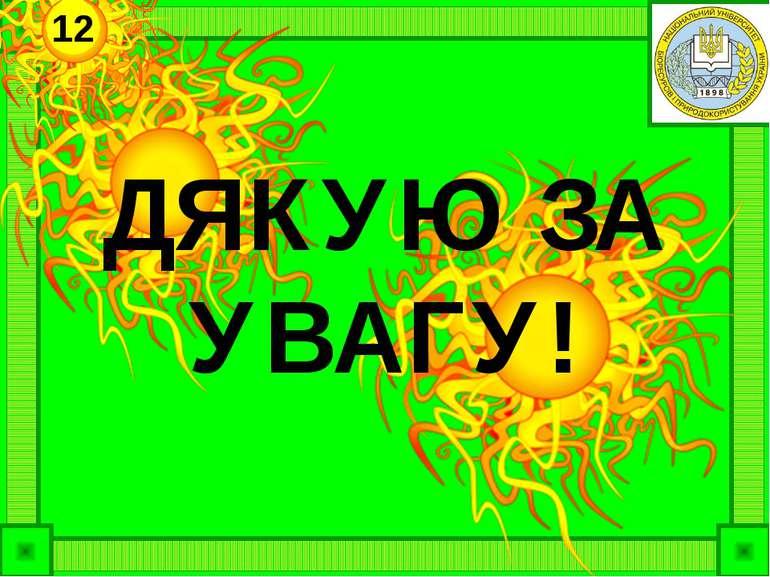 ДЯКУЮ ЗА УВАГУ! 12
