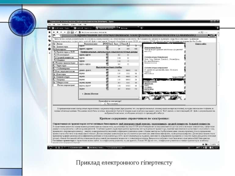 Приклад електронного гіпертексту