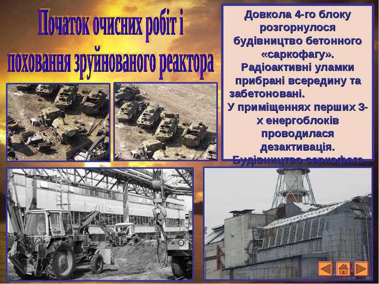 Довкола 4-го блоку розгорнулося будівництво бетонного «саркофагу». Радіоактив...