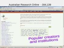 Australian Research Online - 384,139