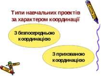 Типи навчальних проектів за характером координації З прихованою координацією ...