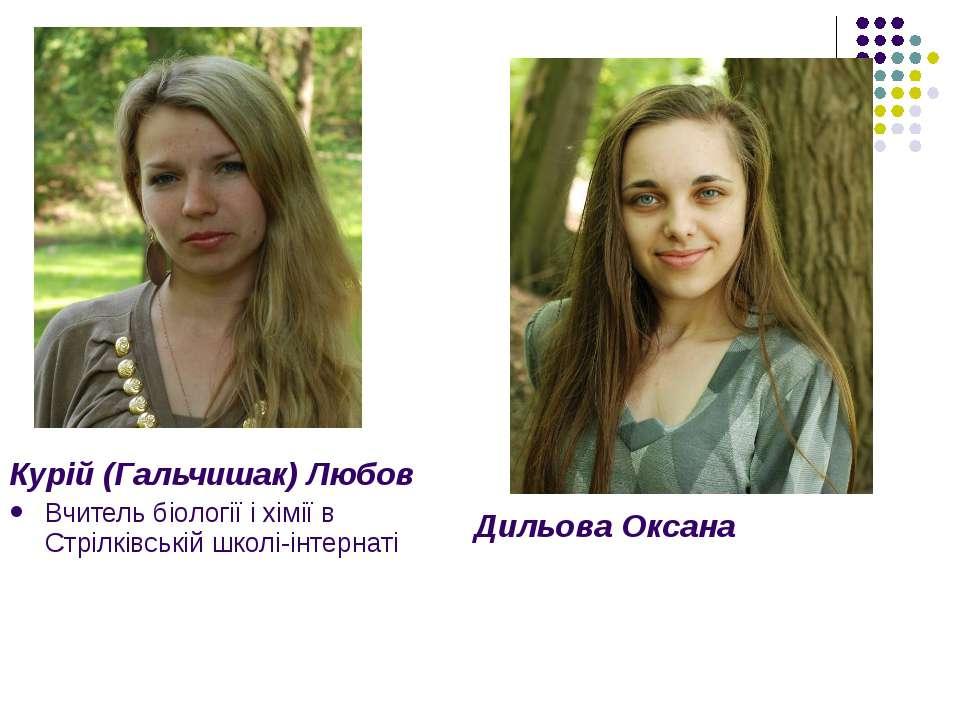 Курій (Гальчишак) Любов Вчитель біології і хімії в Стрілківській школі-інтерн...