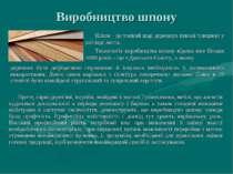 Виробництво шпону Шпон - це тонкий шар деревини певної товщини у вигляді лист...