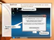 Вебтоп При створенні вебтопу пам'ятайте, що пароль містить 28 символів Натиск...