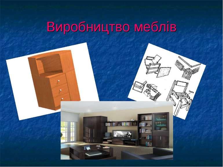 Виробництво меблів