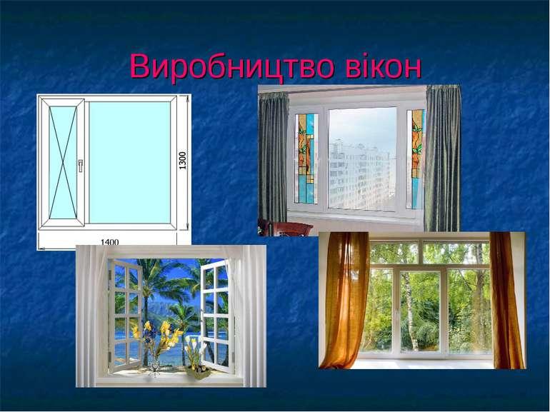 Виробництво вікон