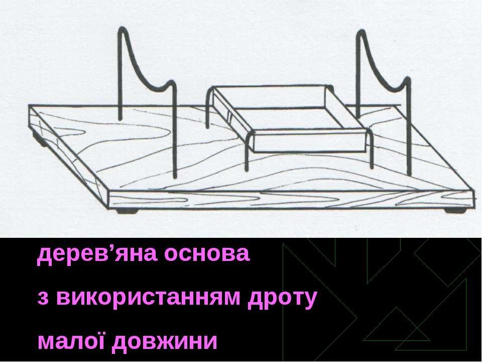 дерев'яна основа з використанням дроту малої довжини