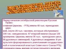 Перед началом октябрьской революции Русская Право- славная Церковь - РПЦ имел...