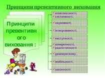 Принципи превентивного виховання : комплексності, системності, науковості, ін...