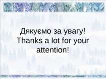 Дякуємо за увагу! Thanks a lot for your attention!