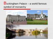 Buckingham Palace – a world famous symbol of monarchy