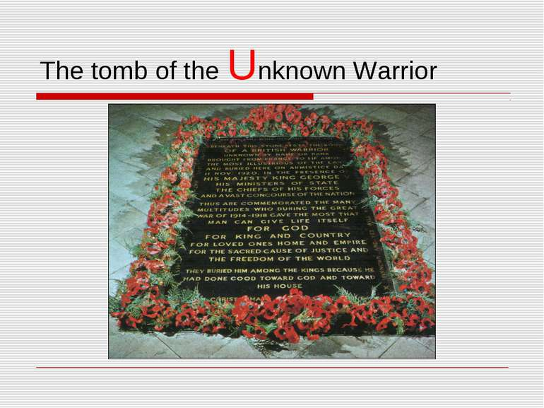 The tomb of the Unknown Warrior