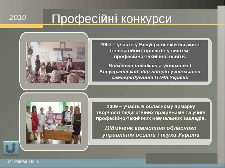 Професійні конкурси © Попович М. І. 2010