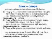подовження приголосних в іменниках ІІІ відміни Якщо у Н.в. основа іменника за...