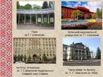 Парк ім.Т.Г.Шевченка Інститут літератури ім. Т.Г.Шевченка Національної Академ...