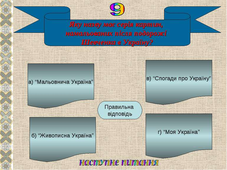 Яку назву має серія картин, намальованих після подорожі Шевченка в Україну? а...