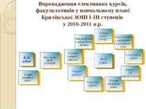 Впровадження елективних курсів, факультативів у навчальному плані Брилівської...