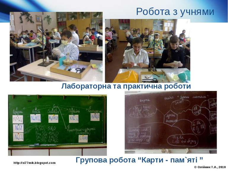 "Лабораторна та практична роботи Групова робота ""Карти - пам`яті "" Робота з уч..."