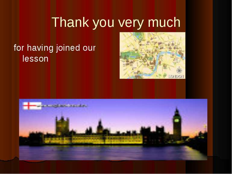 Thank you very much for having joined our lesson