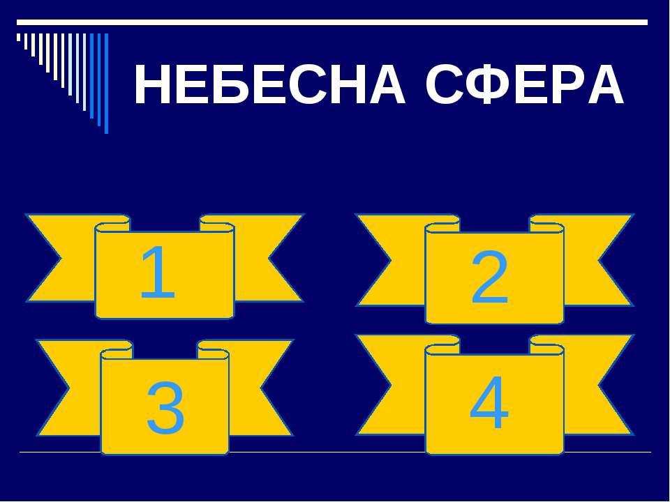 НЕБЕСНА СФЕРА 1 2 3 4