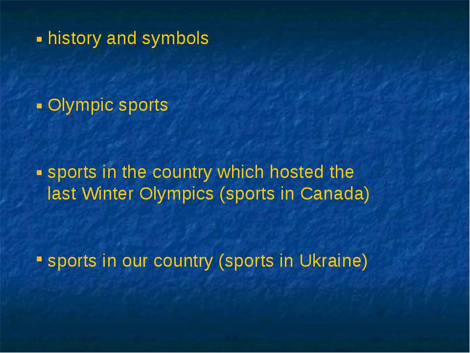 history and symbols Olympic sports sports in the country which hosted the las...