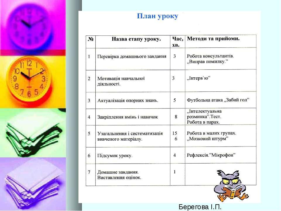 Берегова І.П.