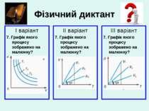 Фізичний диктант І варіант 7. Графік якого процесу зображено на малюнку? ІІ в...