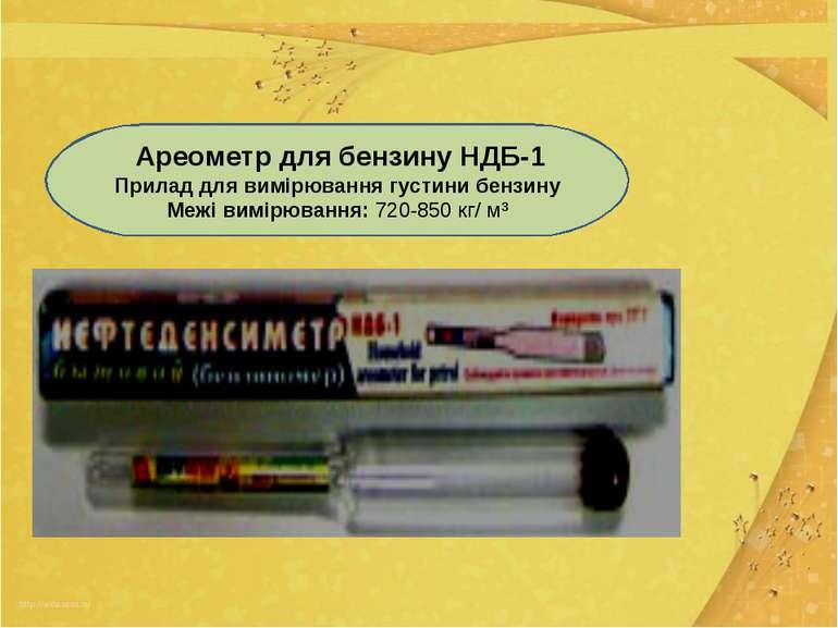 Ареометр для бензину НДБ-1 Прилад для вимірювання густини бензину Межі вимірю...