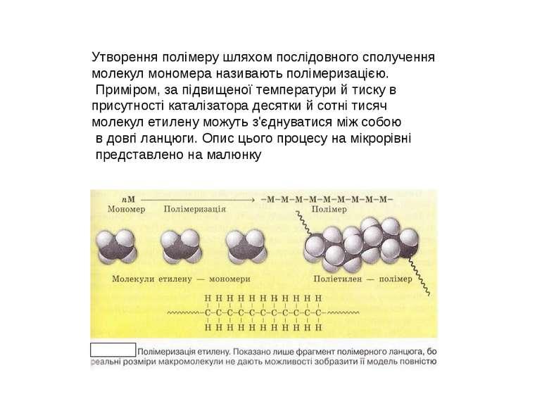 Утворення полімеру шляхом послідовного сполучення молекул мономера називають ...