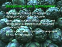 """Завдання групи """"Дослідники"""" Визначення ареалу поширення лікарських рослин Чер..."""