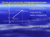 Пусть на плоскости задана прямоугольная (декартова) система координат Пусть т...