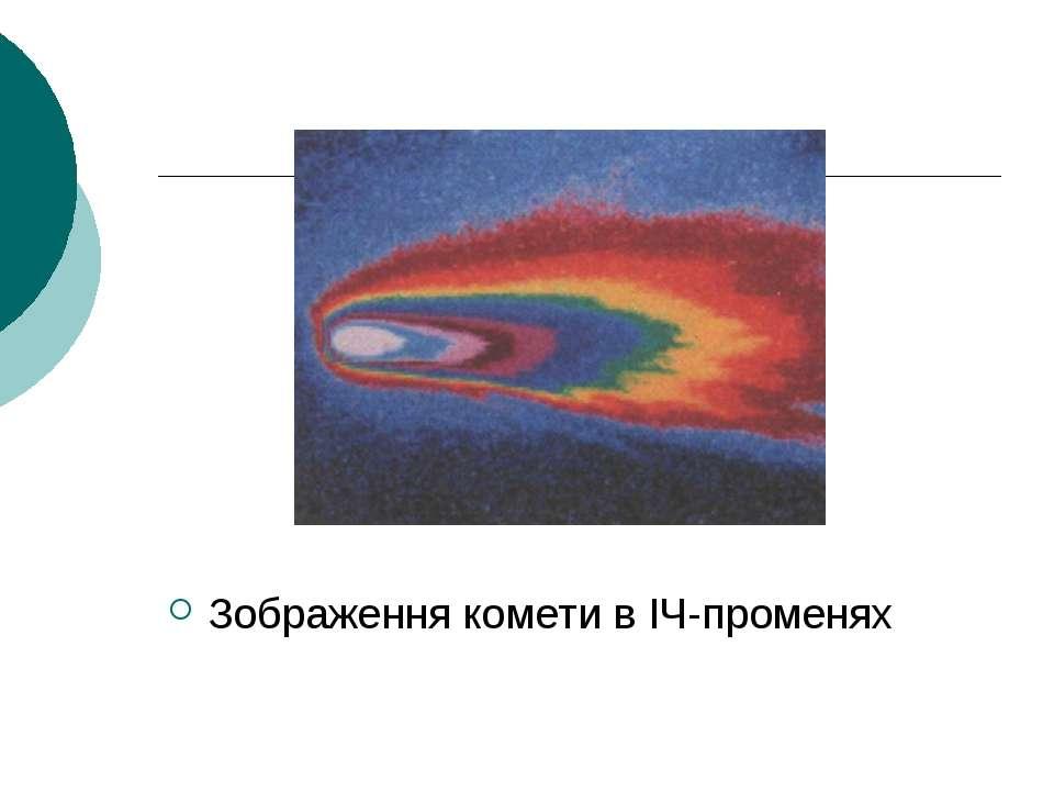 Зображення комети в ІЧ-променях