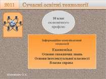 Інформаційно-комунікативні технології Економіка Основи споживчих знань Основи...