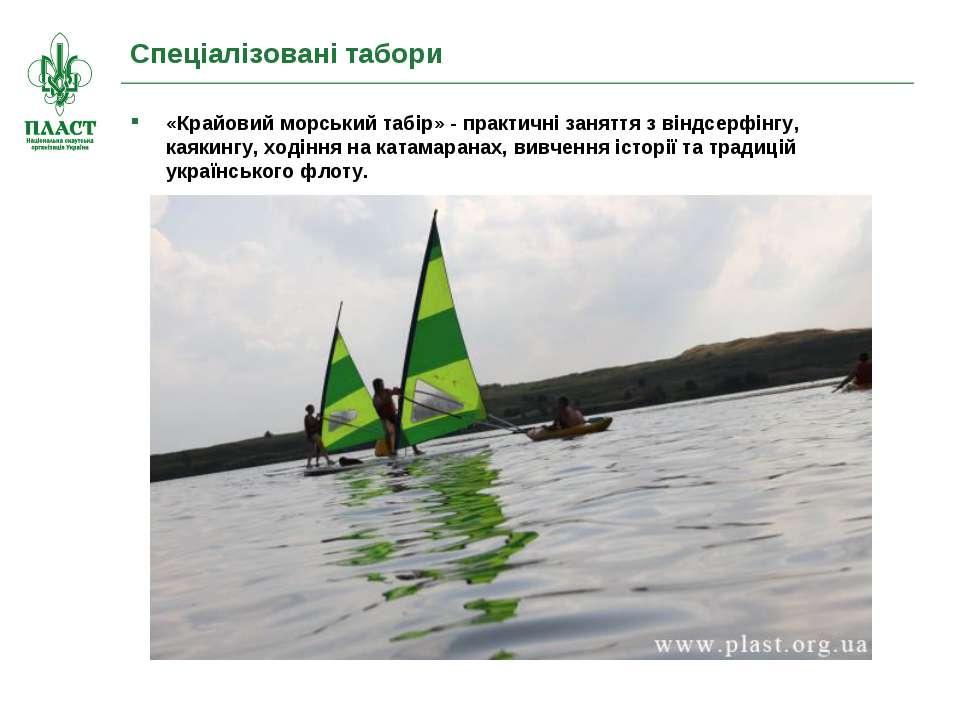 Спеціалізовані табори «Крайовий морський табір» - практичні заняття з віндсер...