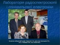 Лабораторія радіоспектроскопії і спінхвильової електроніки Колектив лаборатор...