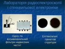 Лабораторія радіоспектроскопії і спінхвильової електроніки Одно- та восьмикан...