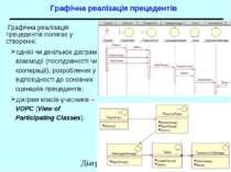 Графічна реалізація прецедентів Графічна реалізація прецедентів полягає у ств...