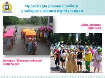 Організація виховної роботи у таборах з денним перебуванням День іграшки НВК ...
