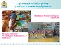 Організація виховної роботи у таборах з денним перебуванням Мандрівка до краї...