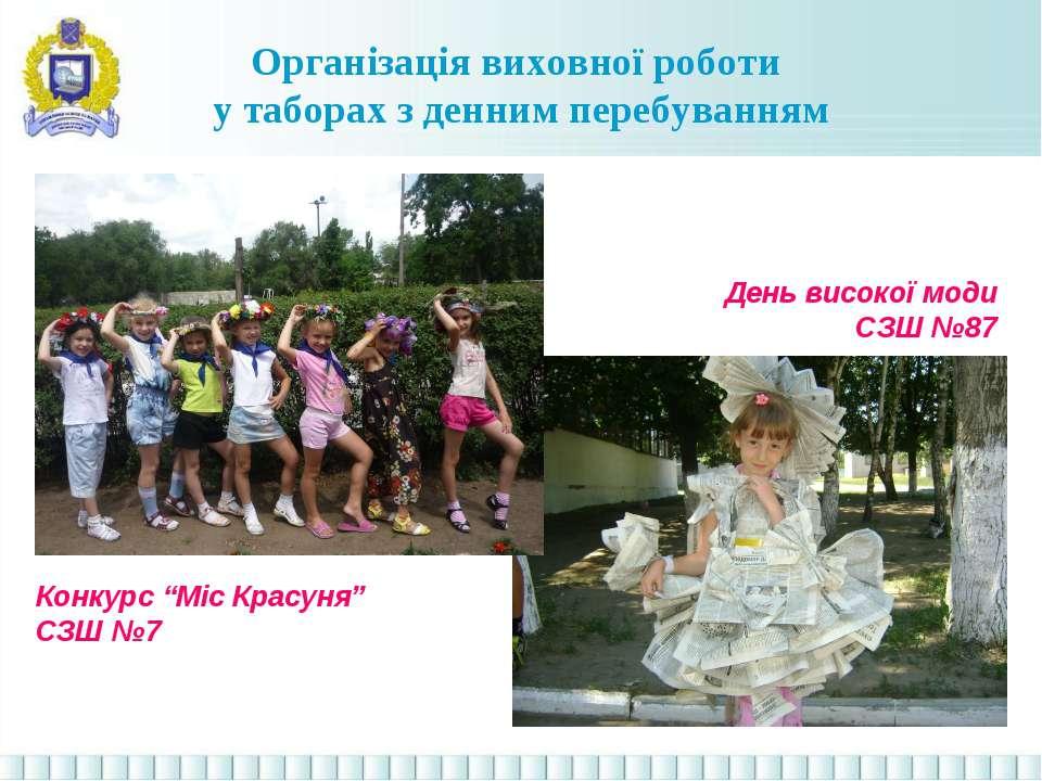 """Організація виховної роботи у таборах з денним перебуванням Конкурс """"Міс Крас..."""