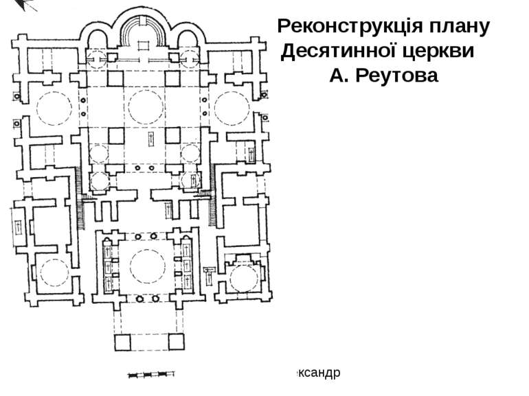 Реконструкція плану Десятинної церкви А. Реутова Пошелюжний Олександр СЗШ №45...