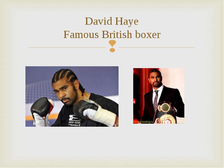 David Haye Famous British boxer